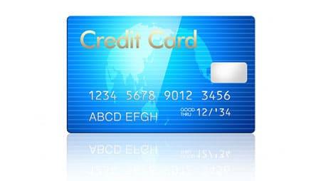 青色のクレジットカード